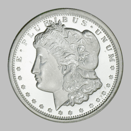 The Half Ounce Fine Silver Morgan Round